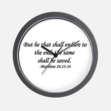 """Endure To The End"" Wall Clock"