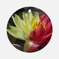 Lotus Flower Round Ornament