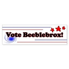 Vote Beeblebrox! Bumper Bumper Sticker
