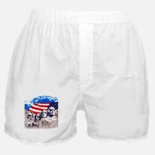 Mount Rushmore with American Flag Boxer Shorts