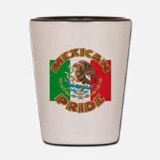 Mexican Pride With Mexico Flag Shot Glass
