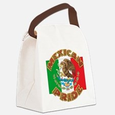 Mexican Pride With Mexico Flag Canvas Lunch Bag