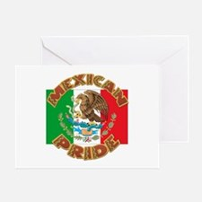 Mexican Pride With Mexico Flag Greeting Card