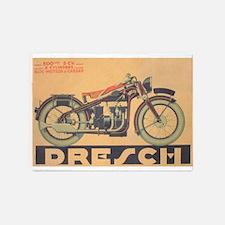 Vintage Motorcycle, Drench; Adverti 5'x7'Area Rug