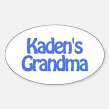 Kaden's Grandma Oval Decal