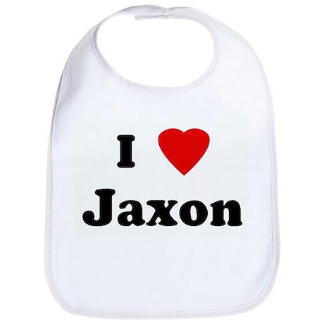 I Love Jaxon Bib