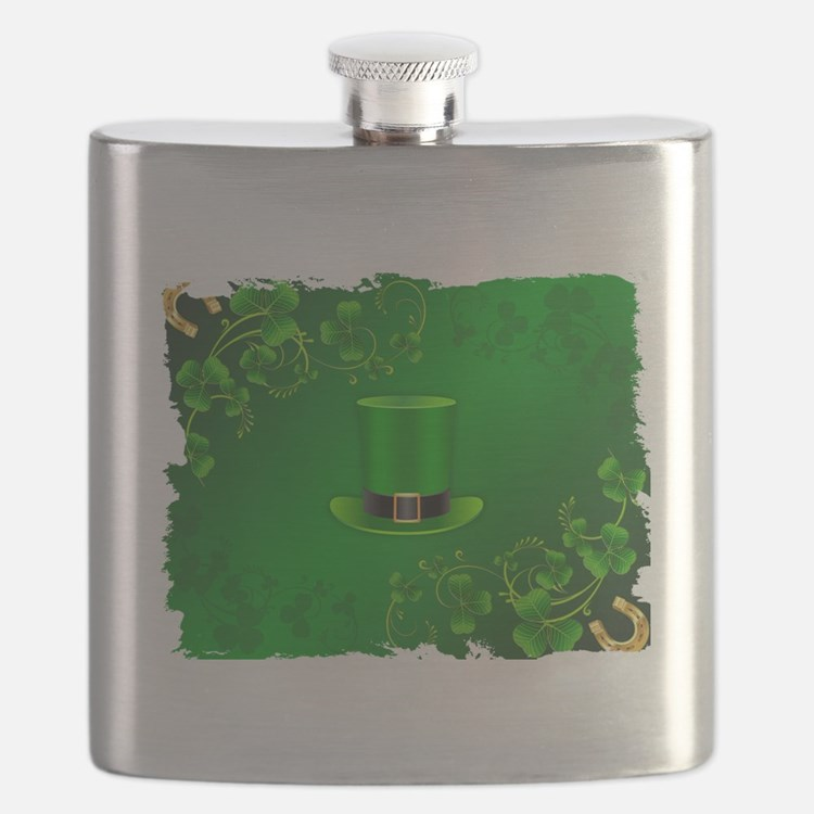 Cute St patrick day Flask