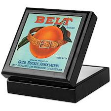 Vintage Belt Oranges Fruit Cr Keepsake Box