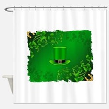 Saint patricks day hat and shillela Shower Curtain