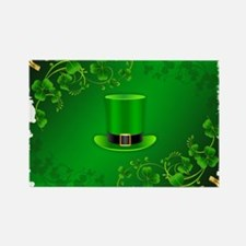 Saint patricks day hat and shillelagh Magnets