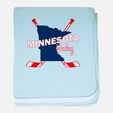 Minnesota Hockey baby blanket