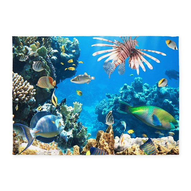 Tropical fish 5 39 x7 39 area rug by bestgear2 for Fish area rug