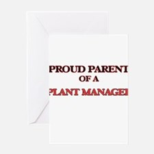Proud Parent of a Plant Manager Greeting Cards