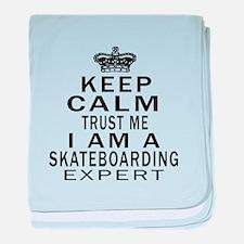 Skateboarding Expert Designs baby blanket