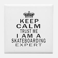 Skateboarding Expert Designs Tile Coaster