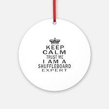 Shuffleboard Expert Designs Round Ornament