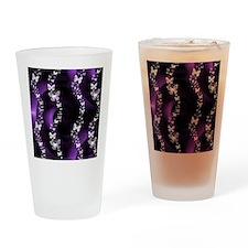 Purple Butterfly Swirl Drinking Glass