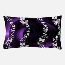 Purple Butterfly Swirl Pillow Case