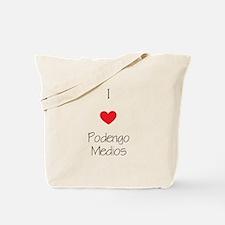 I love Podengo Medios Tote Bag