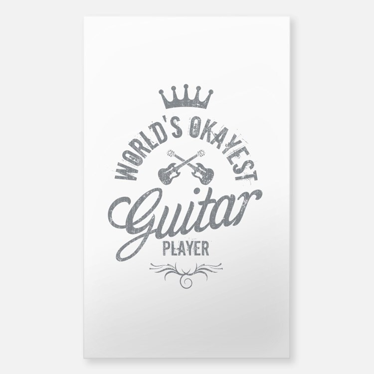 World's Okayest Guitar Player Sticker (Rectangle)