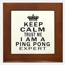 Ping Pong Expert Designs Framed Tile