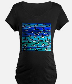 Loons on blue T-Shirt