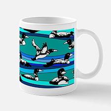 Loons on blue Mug