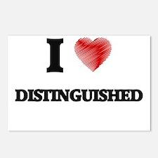 I love Distinguished Postcards (Package of 8)