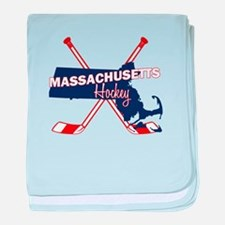 Massachusetts Hockey baby blanket
