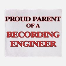 Proud Parent of a Recording Engineer Throw Blanket