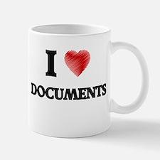 I love Documents Mugs