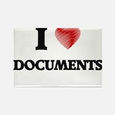 I love Documents Magnets