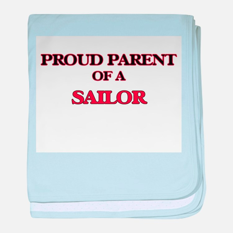 Proud Parent of a Sailor baby blanket