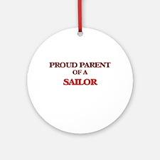 Proud Parent of a Sailor Round Ornament