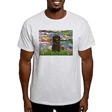 Monet's Lilies & Affenpinsche Ash Grey T-Shirt