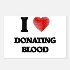 I love Donating Blood Postcards (Package of 8)