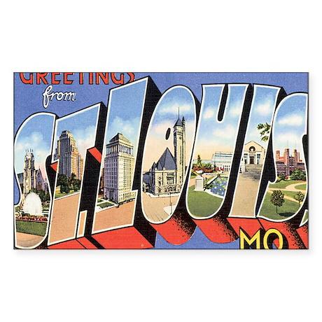 ST. Louis Postcard Rectangle Sticker