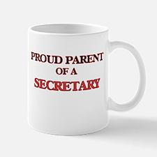 Proud Parent of a Secretary Mugs