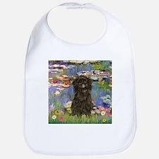 Monet's Lilies & Affenpinsche Bib