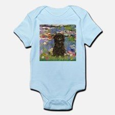 Monet's Lilies & Affenpinsche Infant Creeper