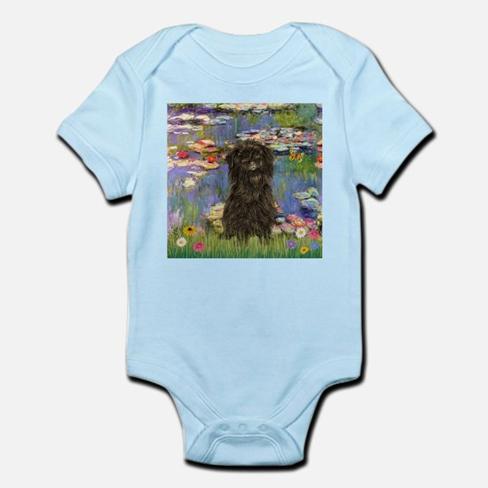 Monet's Lilies & Affenpinsche Infant Creeper