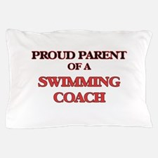 Proud Parent of a Swimming Coach Pillow Case