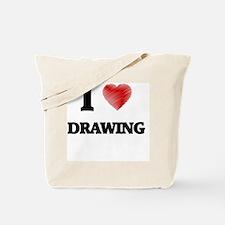 I love Drawing Tote Bag