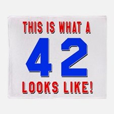 Look Like 42 Birthday Throw Blanket