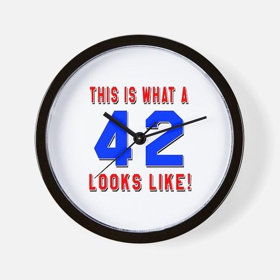Look Like 42 Birthday Wall Clock