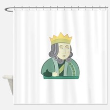 king and queen couple Shower Curtain