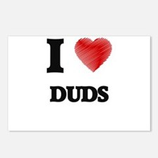 I love Duds Postcards (Package of 8)