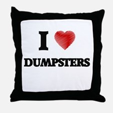I love Dumpsters Throw Pillow