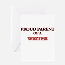 Proud Parent of a Writer Greeting Cards