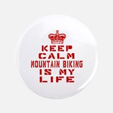 Keep Calm and Mountain Biking Button